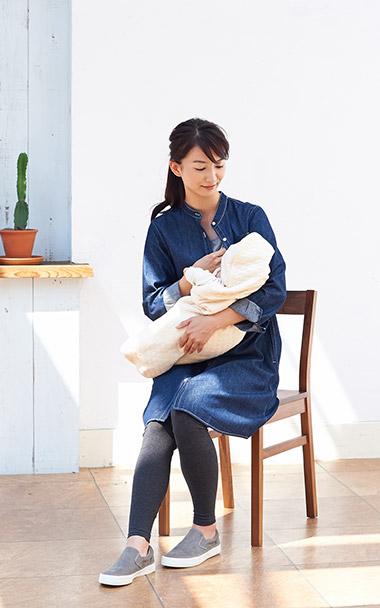産前産後も可愛く着こなせるジーンズのワンピースご紹介します。のサムネイル画像