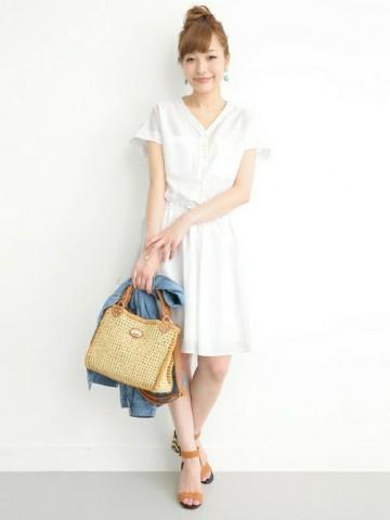 1枚で着られて涼しい!暑い夏はワンピースで涼しく可愛い女の子!のサムネイル画像