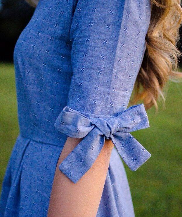 【青のワンピース】爽やかな青のワンピーススタイルがかわいい!のサムネイル画像
